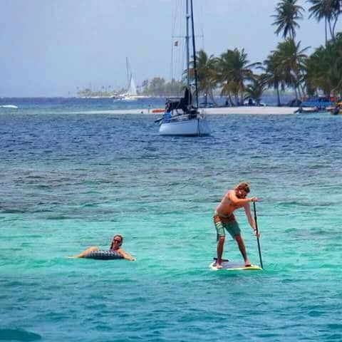 San-Blas islands cruise paddle board
