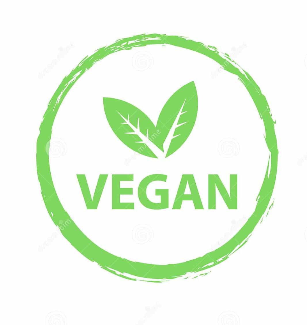 Vegan logo travelling with a special  diet
