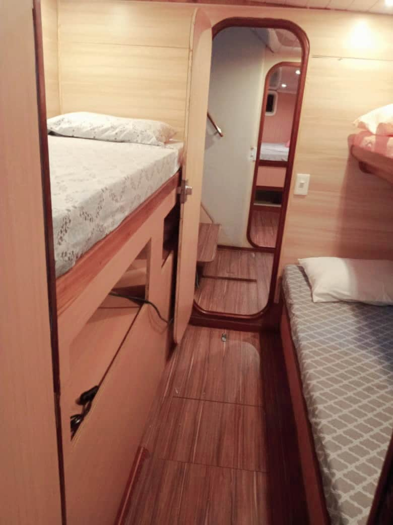 spartivento cabin bunk bedsan blas catamaran rental